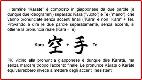 Karatè o Karàte (Brianza)?